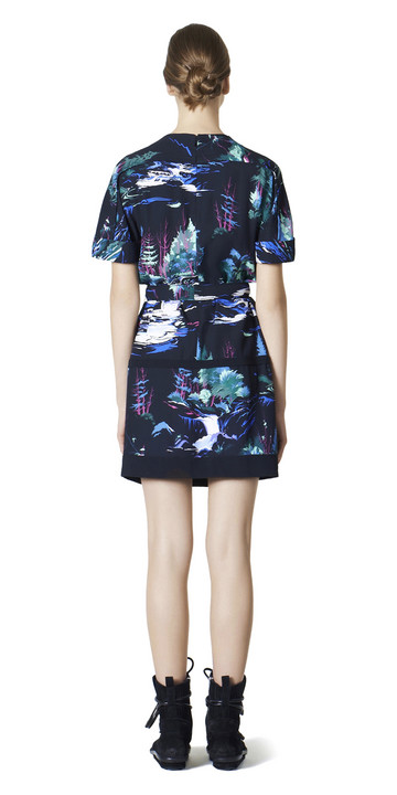 Balenciaga Landscape Belted Dress