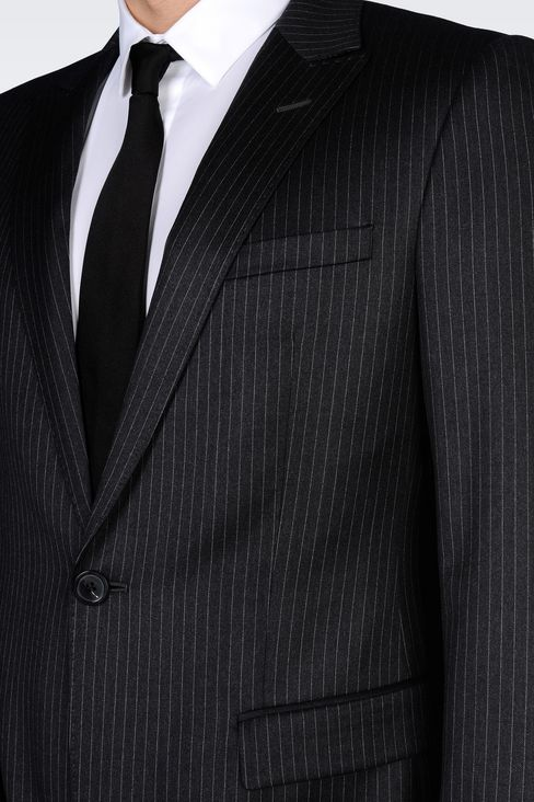 SINGLE-BREASTED SUIT IN CLASSIC PINSTRIPE WOOL: One button suits Men by Armani - 5