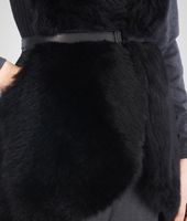 Nero Long Hair Shearling Merinos Vest