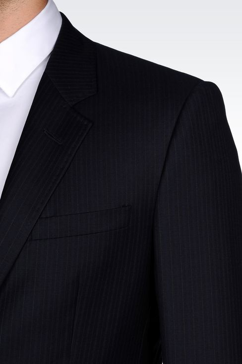 SINGLE-BREASTED SUIT IN PINSTRIPE WOOL: Two buttons suits Men by Armani - 5