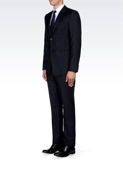 SINGLE-BREASTED SUIT IN PINSTRIPE WOOL: Two buttons suits Men by Armani - 3
