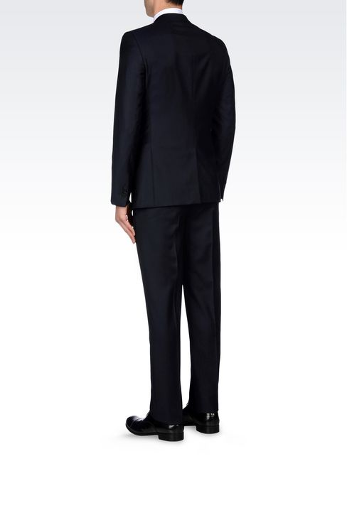 SINGLE-BREASTED SUIT IN PINSTRIPE WOOL: Two buttons suits Men by Armani - 4