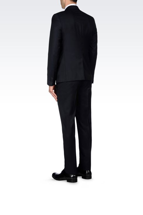 SINGLE-BREASTED SUIT IN HERRINGBONE WOOL: Two buttons suits Men by Armani - 4