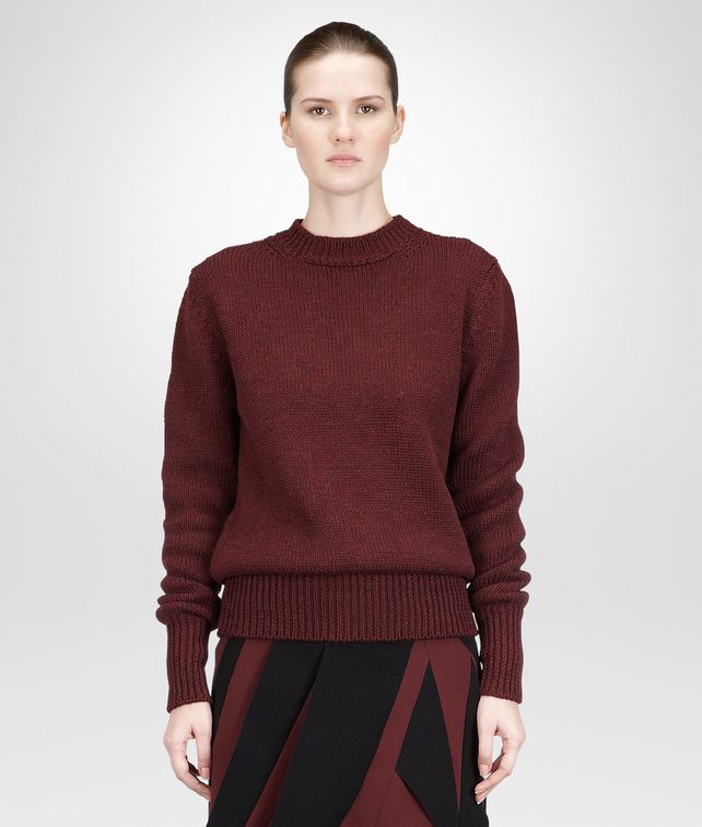 AUBERGINE  DRY WOOL  SWEATER