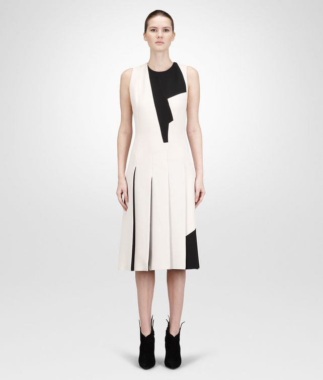 PALE NERO   CREPE WOOL  DRESS