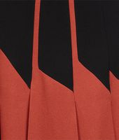 BURNT RED NERO  CREPE VISCOSE SABLE  SKIRT
