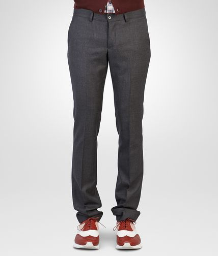 PANTALON EN LAINE DARK GREY