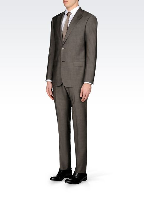 COMFORT FIT SUIT IN VIRGIN WOOL: Two buttons suits Men by Armani - 3