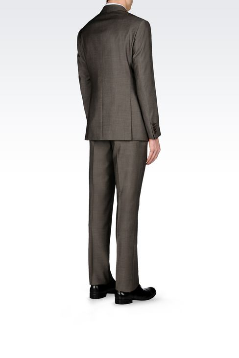COMFORT FIT SUIT IN VIRGIN WOOL: Two buttons suits Men by Armani - 4