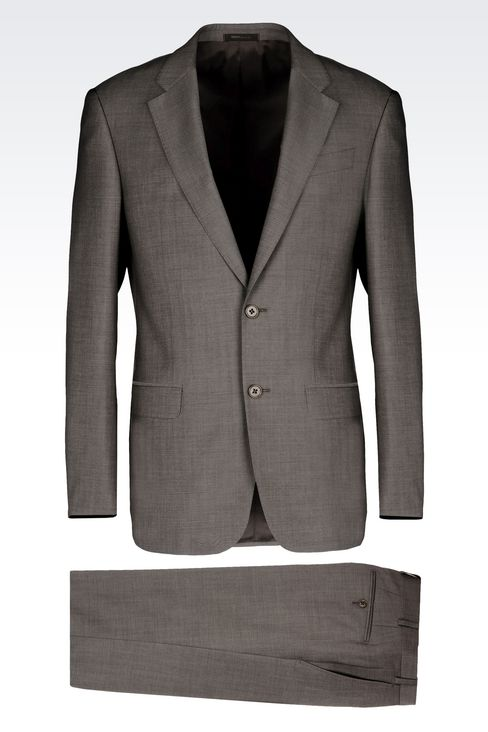 COMFORT FIT SUIT IN VIRGIN WOOL: Two buttons suits Men by Armani - 1