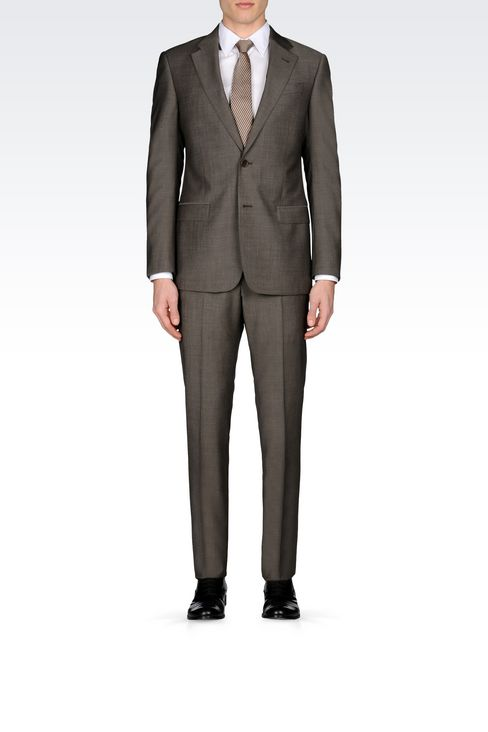 COMFORT FIT SUIT IN VIRGIN WOOL: Two buttons suits Men by Armani - 2