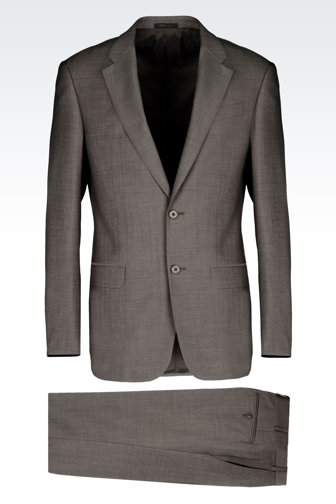 COMFORT FIT SUIT IN VIRGIN WOOL: Two buttons suits Men by Armani - 0