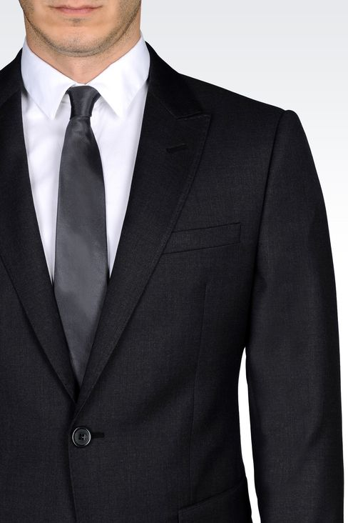 SINGLE-BREASTED SUIT IN WORSTED WOOL: One button suits Men by Armani - 5