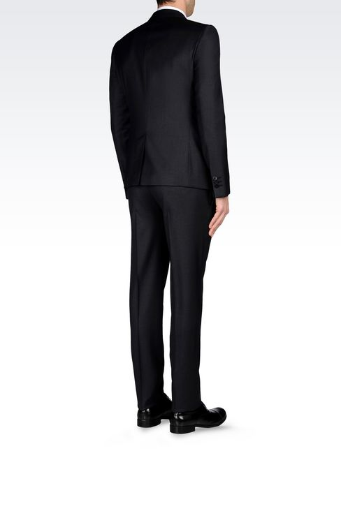 SINGLE-BREASTED SUIT IN WORSTED WOOL: One button suits Men by Armani - 4
