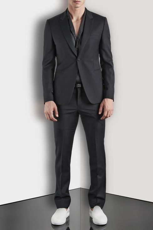 SINGLE-BREASTED SUIT IN WORSTED WOOL: One button suits Men by Armani - 2