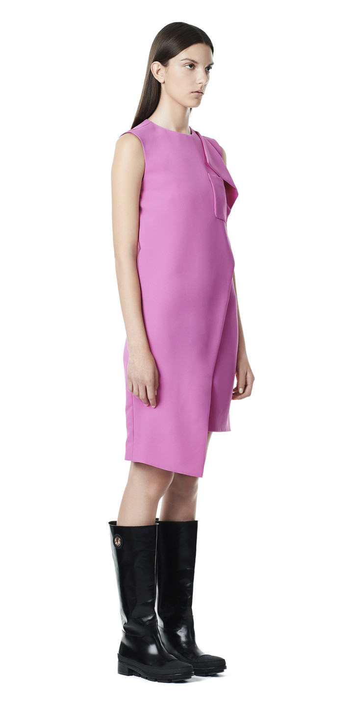 Balenciaga Overlap Sleeveless Dress