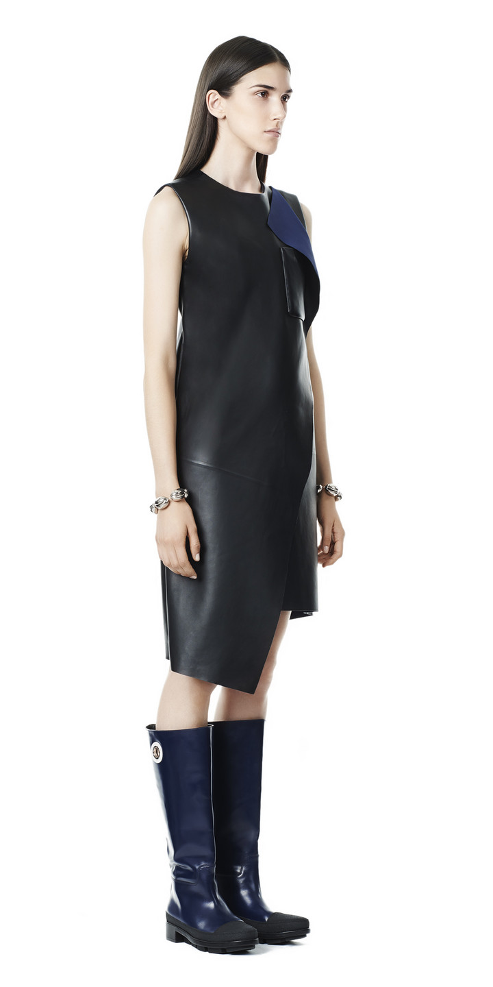 Balenciaga Overlap Leather Dress