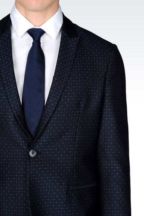 RUNWAY SUIT IN JACQUARD WOOL: One button suits Men by Armani - 5