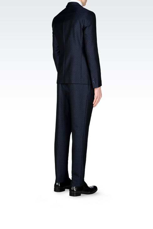 RUNWAY SUIT IN JACQUARD WOOL: One button suits Men by Armani - 4