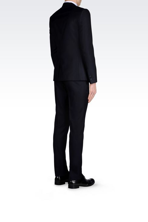 RUNWAY SUIT IN MICRO PINSTRIPE WOOL AND SILK: One button suits Men by Armani - 4