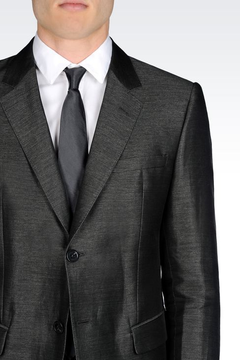 SUIT IN LINEN AND SILK: Two buttons suits Men by Armani - 5