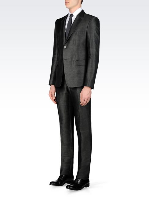 SUIT IN LINEN AND SILK: Two buttons suits Men by Armani - 3
