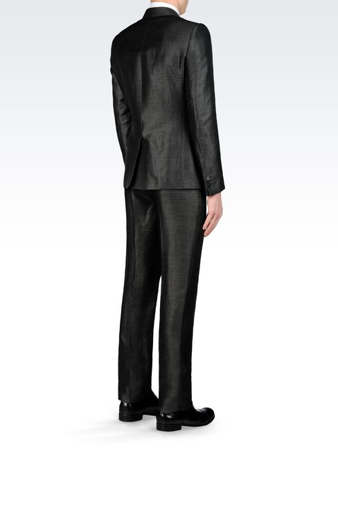 SUIT IN LINEN AND SILK: Two buttons suits Men by Armani - 4