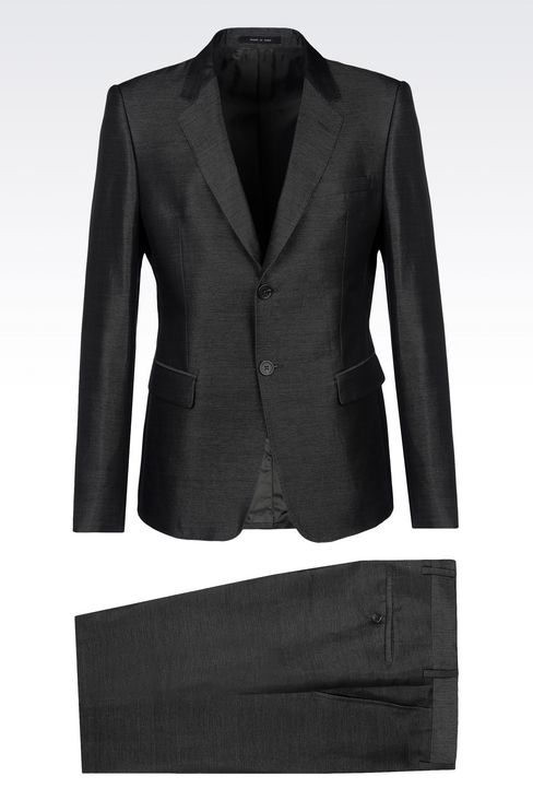 SUIT IN LINEN AND SILK: Two buttons suits Men by Armani - 1