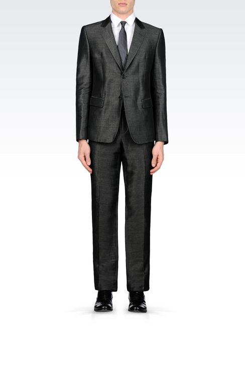 SUIT IN LINEN AND SILK: Two buttons suits Men by Armani - 2