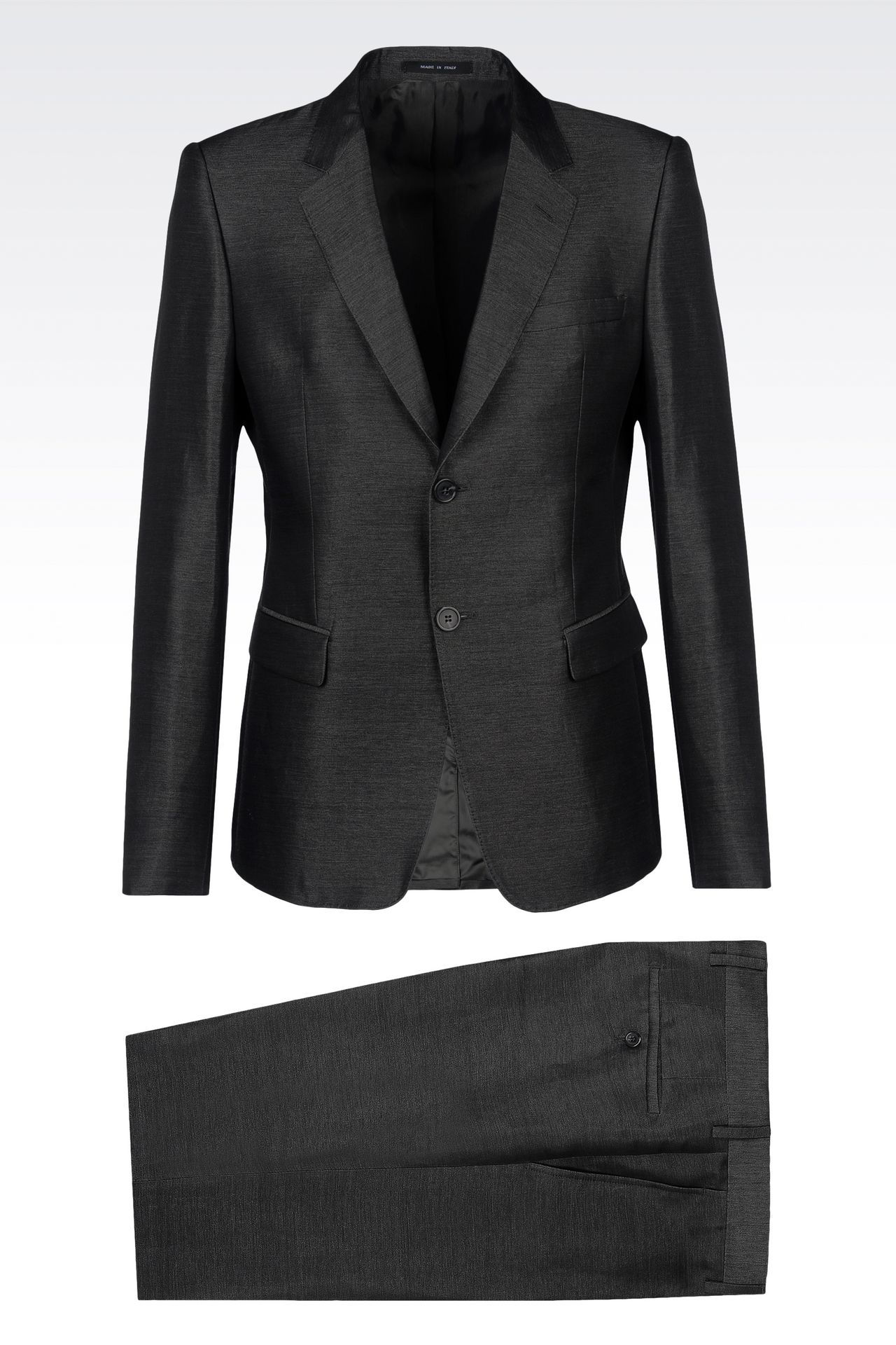 SUIT IN LINEN AND SILK: Two buttons suits Men by Armani - 0