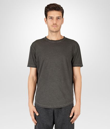 T-SHIRT IN DARK GREY COTON