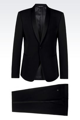 Armani One button suits Men tuxedo in wool crêpe