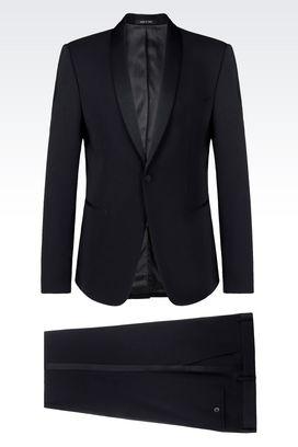 Armani One button suits Men tuxedo in wool crêpe