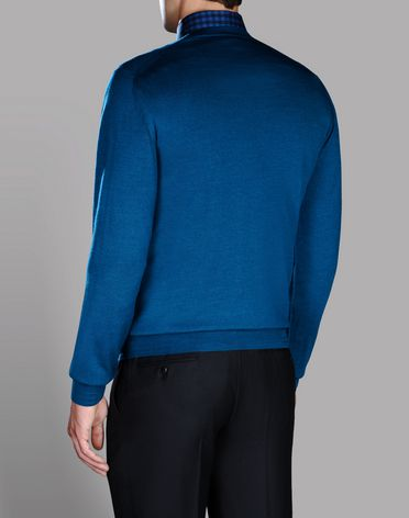 CREW NECK IN WOOL, CASHMERE AND SILK