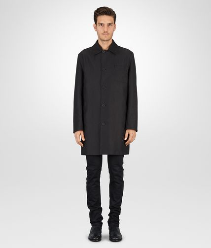 COAT IN NERO MOLESKIN AND NYLON