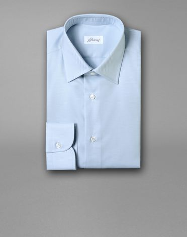 FORMAL SHIRT WITH MICRO HOUNDSTOOTH MOTIF