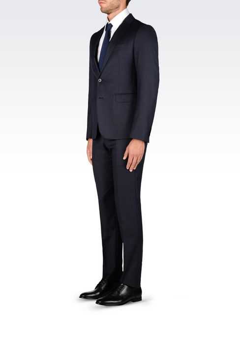 SLIM FIT SUIT IN VIRGIN WOOL: Two buttons suits Men by Armani - 3