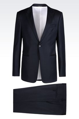 Armani One button suits Men suit in jacquard