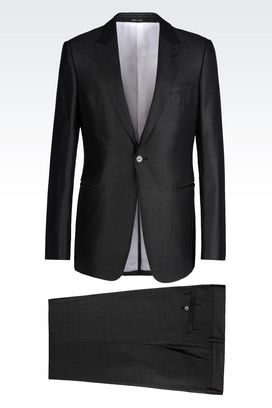 Armani One button suits Men suit in wool and silk
