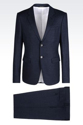 Armani Two buttons suits Men slim fit suit in wool and silk
