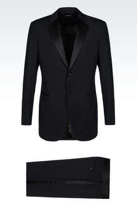 Armani Suits Men wall street line dinner suit in virgin wool