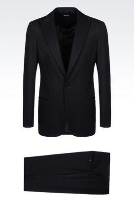 Armani Suits Men single-breasted dinner suit in virgin wool