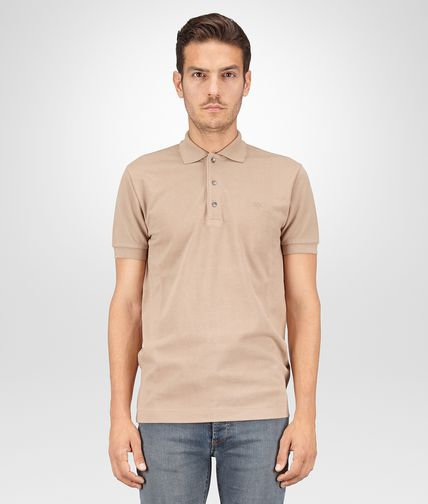 POLO IN TOFFEE PIQUE' COTTON