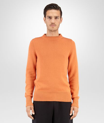 SWEATER IN PERSIMMON CASHMERE