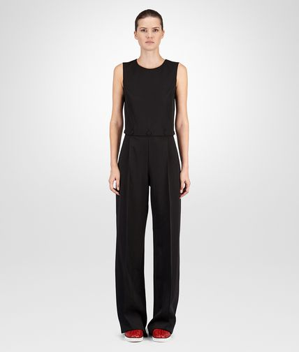JUMPSUIT IN NERO WOOL GABARDINE