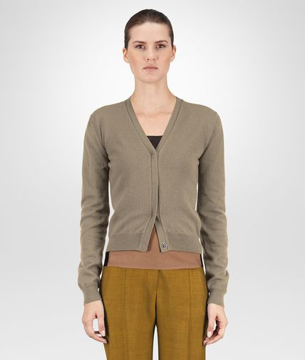 CARDIGAN IN TOFFEE CASHMERE