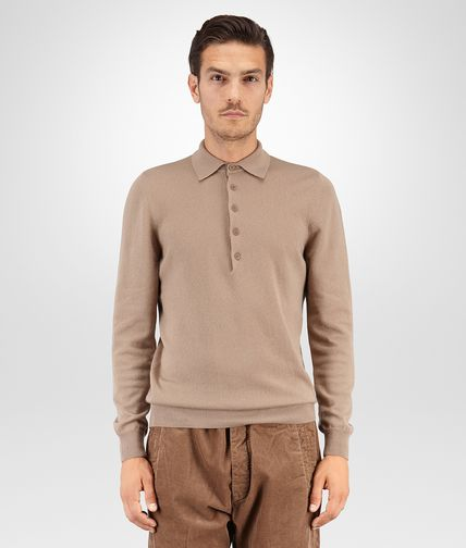SWEATER IN TOFFEE CASHMERE