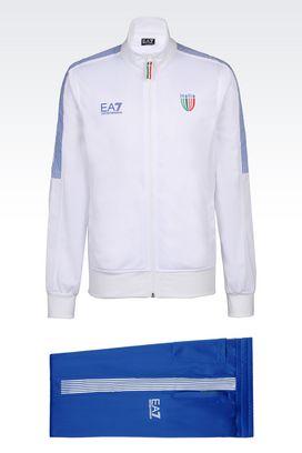 Armani Sweatsuits Men italia team line tracksuit