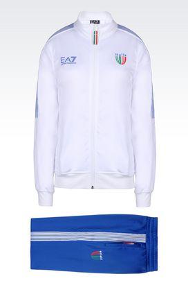 Armani Sweatsuits Women italia team line tracksuit