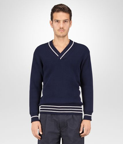 SWEATER IN DARK NAVY COTTON